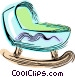 Baby crib Vector Clipart illustration