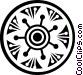 decorative flourishes Vector Clipart graphic
