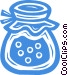 jar of preserves Vector Clip Art image