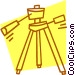tripod Vector Clip Art graphic