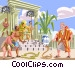 Moses and the Pharaoh Vector Clipart picture