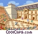 Roman Amphitheatre Vector Clip Art graphic
