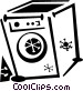 washing machine Vector Clip Art graphic