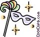 mardi gras mask Vector Clip Art picture