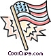 American flag Vector Clip Art picture