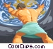 Atlas lifting the world Vector Clip Art picture