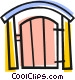 Back yard gate Vector Clipart image