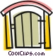 Back yard gate Vector Clipart picture