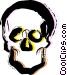 Human Skulls Vector Clipart picture