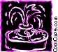 Fountains Vector Clip Art image