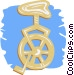 unicycle Vector Clipart image