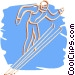 ski jumper Vector Clipart picture