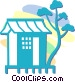 Japanese house Vector Clipart picture