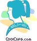 Japanese woman Vector Clip Art graphic