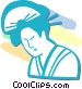 Asian woman Vector Clipart image