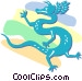 Asian dragon Vector Clipart illustration