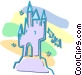 castle Vector Clip Art graphic