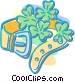 belt with shamrocks Vector Clip Art graphic
