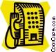 public pay phone Vector Clipart illustration