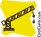 toll gate Vector Clip Art image