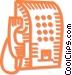 public telephone Vector Clip Art image