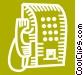 Public Pay Phones Vector Clip Art picture