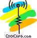 Antennas Vector Clipart image
