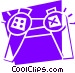Game Controller Vector Clip Art graphic