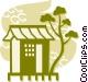 Pagodas Vector Clip Art image