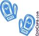 winter mitts Vector Clip Art image