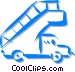 truck with stairs used at the Vector Clipart illustration