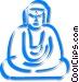 Buddha Vector Clipart graphic
