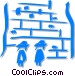 people praying at the Wailing Wall Vector Clipart graphic