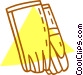 safety gloves Vector Clipart image