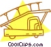 airport truck with stairs Vector Clip Art image