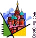 Russian buildings Vector Clipart illustration
