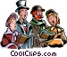 Christmas carolers Vector Clipart picture