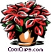 poinsettia Vector Clipart illustration