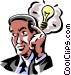 Businessman with a lightbulb Vector Clip Art picture