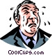 businessman crying Vector Clip Art graphic