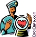 fortune teller looking into a Vector Clip Art image