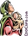 Virgin Mary with the Christ Child Vector Clipart image