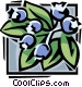 blueberries Vector Clipart illustration