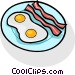 bacon and eggs Vector Clipart picture