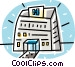hospital buildings Vector Clip Art picture