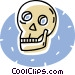 human skull Vector Clip Art graphic