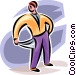 man with empty pockets Vector Clipart picture
