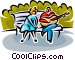 couple sitting on a park bench Vector Clip Art image