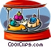 bumper cars Vector Clipart graphic