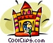 fun house Vector Clip Art picture